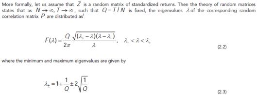 Random matrix theory and APT's daily global model